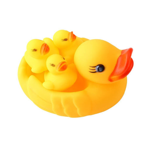 Your Toy Zoo Bath Toys China Yellow Rubber Ducks Baby Bath Toy (4 Pcs)