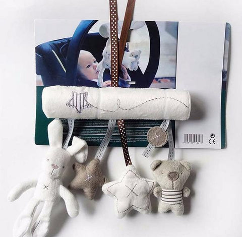 Your Toy Zoo Stuffed & Plush Animals White Plush Crib/ Stroller Activity Toy