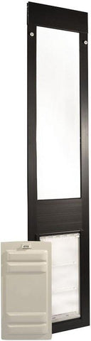 Patio Pacific 01ppc06-pb Thermo Panel 3e - Small with Endura Flap - 74.75-77.75, bronze frame - DogDoorMart