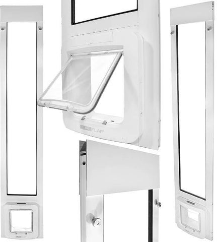 "Patio Pacific 01ppc21-qw Thermopanel 2e with Sureflap Microchip Pet Door - 77.25"" - 80.25"", white frame - DogDoorMart"