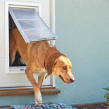 Patio Pacific 03pp08-1 Endura Flap Medium Dog Door Mount - 8 x 15, single flap, white frame - DogDoorMart
