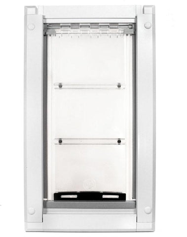 Patio Pacific 03pp10-2 Endura Flap Large Dog Door Mount - Large 10 x 18, double flap, white frame - DogDoorMart