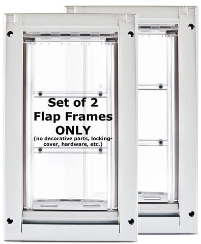 Patio Pacific 03ppk08 Endura Flap 2eMedium Kennel Dog Door - white frame, single flap, case of 2 - DogDoorMart