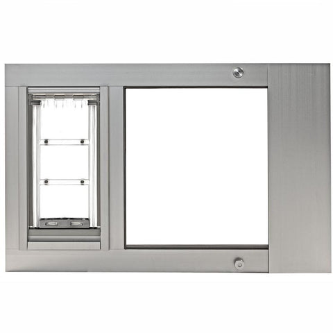 Patio Pacific 07ppc06-ds Thermo Sash 3e-Small with Endura Flap - satin, 28- 31 adjustment range - DogDoorMart
