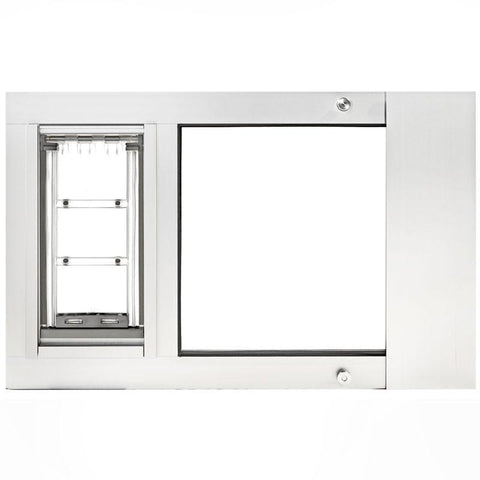 Patio Pacific 07ppc08-bw Thermo Sash 3e - Medium with Endura Flap - white, 22- 25 adjustment range, final sale - DogDoorMart