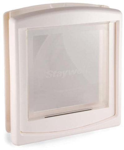 Door Large White Clear Hard Flap (760US) - DogDoorMart