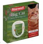 Staywell 4 Way Big White Lock Cat Flap (PPA00-11326) - Peazz Pet