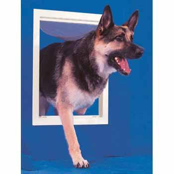 Ideal Pet Door Original White Dog Door - Large (PPDL) - DogDoorMart