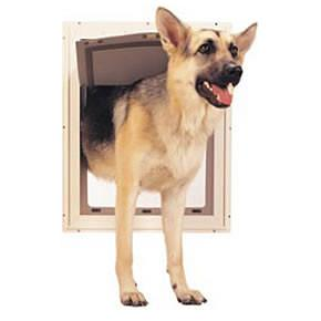 Ideal Pet Door Original White Dog Door - Medium (PPDM) - DogDoorMart