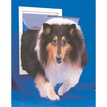 Original White Dog Door - Extra Large (PPDXL) - DogDoorMart