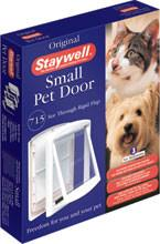 Small White Clear Hard Door Flap - Peazz Pet