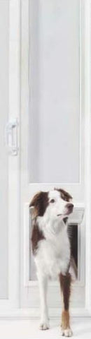 "Ideal 78"" 150 Series Vinyl Insulated Patio Dog Door - Medium (78VIP150M) - DogDoorMart"