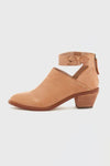 Cut Out Cuban Heel Ankle Boots