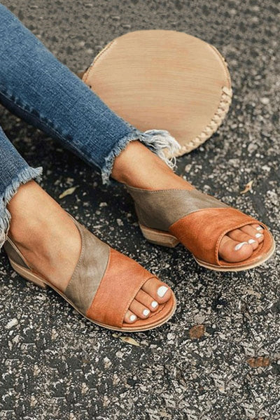 Colourblock Flat Sandals