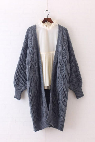 Cable Knit Chunky Midi Cardigan