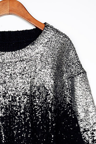 Metallic Gradient Sweater