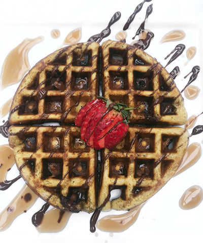 Wholesome Foodie Chocolate Matcha Waffles