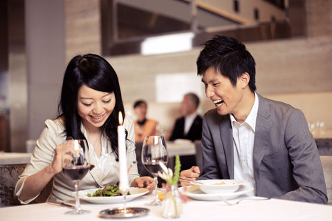 Japanese couple on date