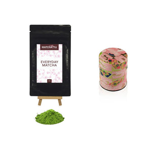 EVERYDAY Matcha Green Tea Powder (30g) + Tea Canister Bundle Matcha Matcha Yu Everyday Matcha 30g & Pink Canister (Small)