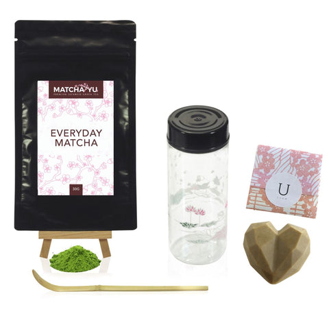 MOTHERS DAY PAMPER SET - Matcha + Tea Shaker + Scoop + Soap Set Tea Shaker Set Matcha Yu