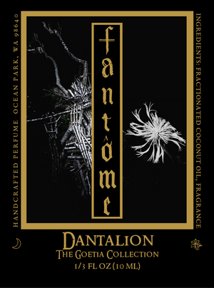 Dantalion Demon Label with Dandelion