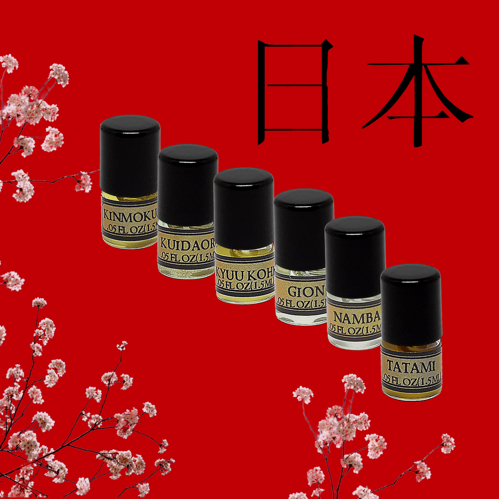 Perfume Oil Sample Pack - Japan Collection (6 Scents)