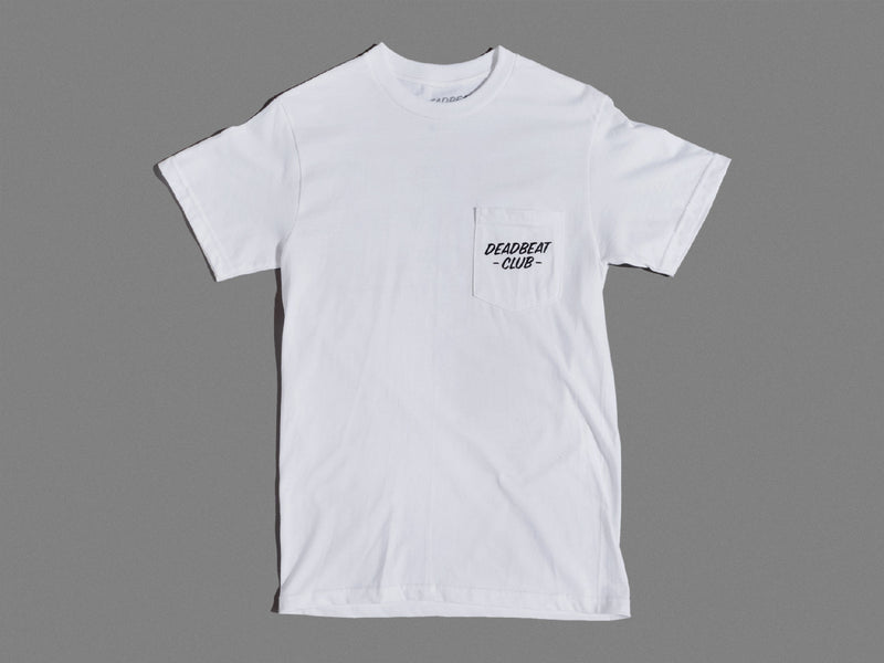 Deadbeat Club Pocket Shirt - White