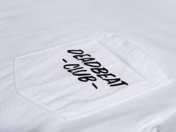 Deadbeat Club Pocket Shirt - White - ASIA