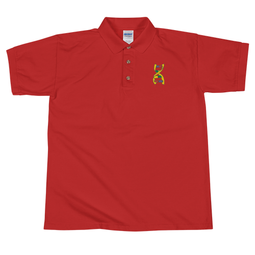 Embroidered DNA Helix Polo Shirt by GNXP