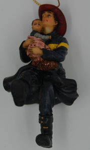 Vanmark Red Hats of Courage Fire Scene Prep Ornament FM88095