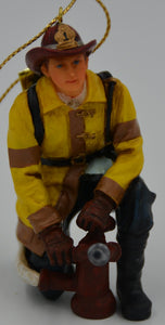 Vanmark Red Hats of Courage Fire Scene Prep Ornament FM88386