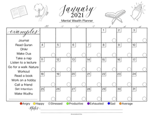 January Mental Wealth Planner