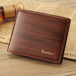 PU Leather Bifold Cash Card Holder Clutch Wallet