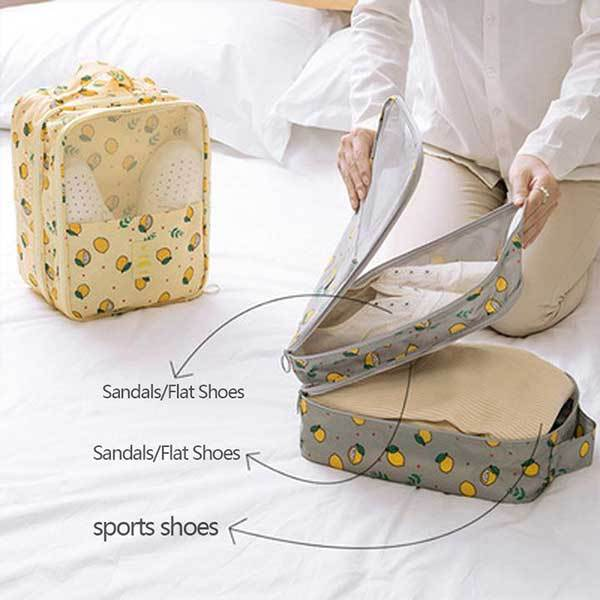 Shoe Storage Bag Holds 3 Pair of Shoes for Travel and Daily Use