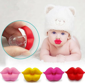 Red Kiss Lips Baby Pacifier