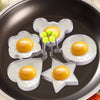 5 Pcs Egg Mold Stainless Steel Set