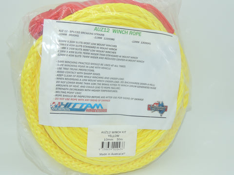 Winch Rope (Australian Made) 30Mtr x 10mm