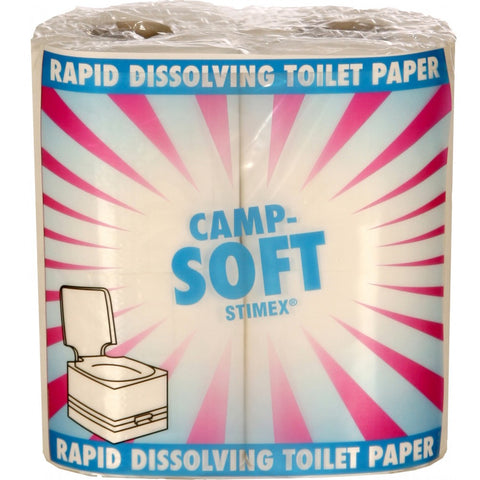 Toilet Rolls - OUT OF STOCK Camp Soft 4 rolls per pack.