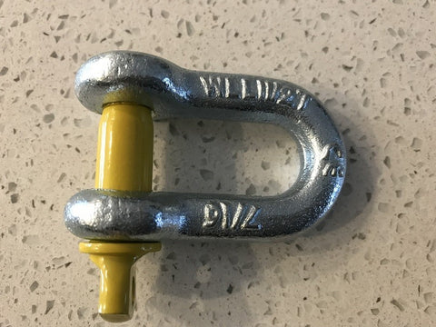 Shackles D Yellow pin- SINGLE 1.5T
