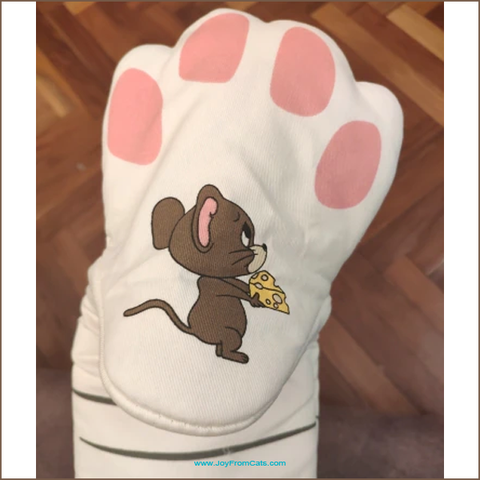 Cat Paw Oven Baking Gloves / Mitts - www.JoyFromCats.com