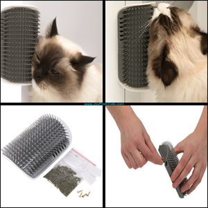 Cat Self Grooming Brush (With Cat Nip) - www.JoyFromCats.com
