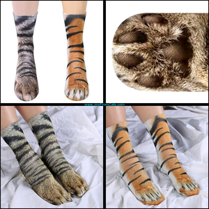 3D Cat Paw Socks - www.JoyFromCats.com