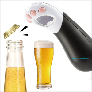 Kitty Paw Bottle Opener - www.JoyFromCats.com