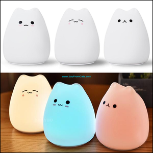 Sleepy Kitty Night Light - www.JoyFromCats.com