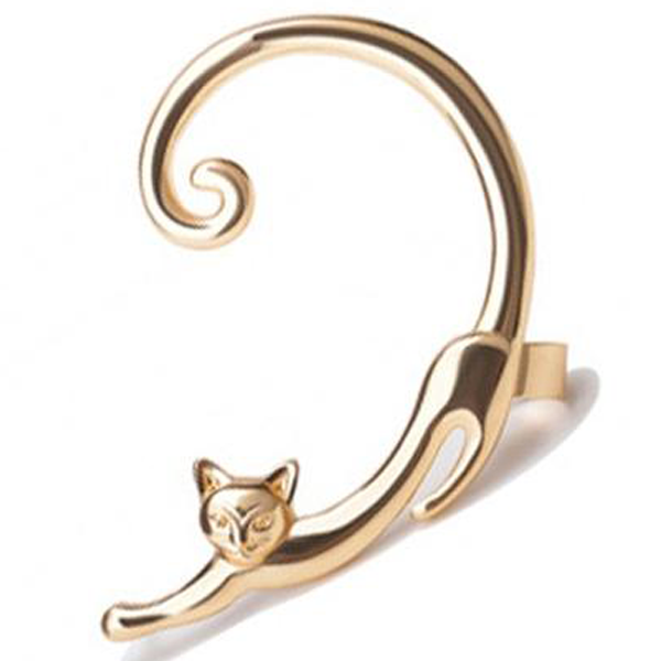 Single Punk Style Wrap Cat Stud Earring - www.JoyFromCats.com