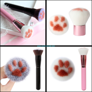 Paw Print Foundation Brush - www.JoyFromCats.com