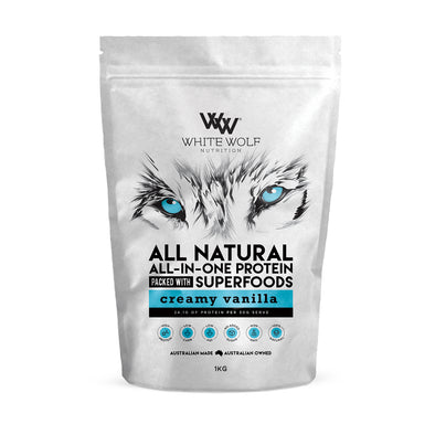 all-in-one vanilla protein - white wolf nutrition