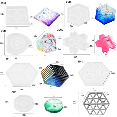 Resin Coaster Silicone Molds Set 65 Kits Large