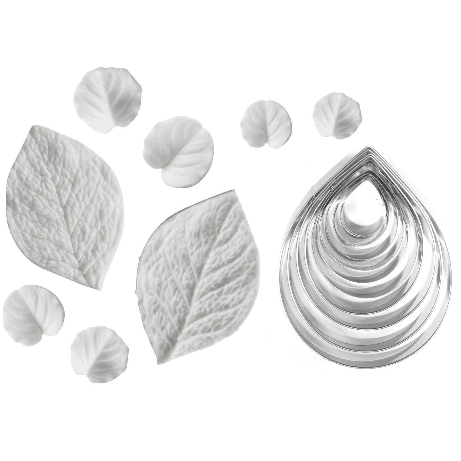Fondant Leaves Cutters and Leaf Veiners Set