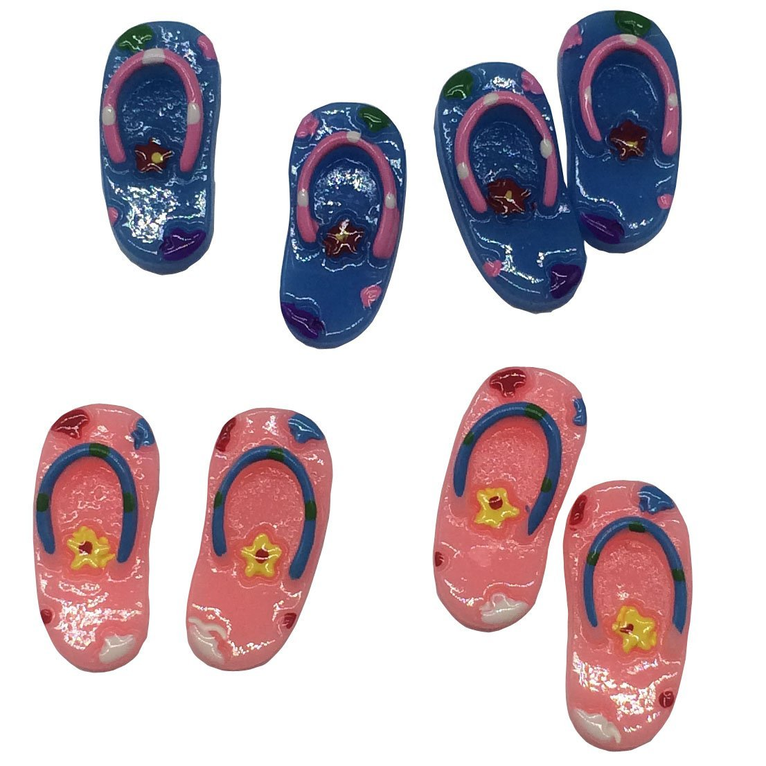Flip Flops Miniature Pink and Blue, 4-pair